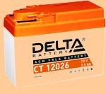 Аккумулятор мото 12V/2.5Ah Delta CT 12026 (2.5 А·ч) , 12026 - фото