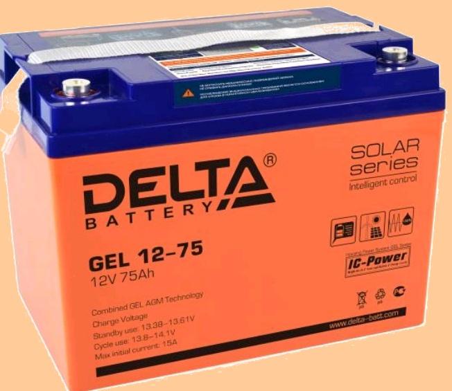 GEL 12-75 Батарея для ибп Delta - фото