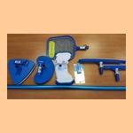 Уборочный комплект AZURO OCEAN набор из 6-ти предметов (штанга, щетка пылесоса, щетка для стен, сачок, термометр, тестер CL/Ph) - фото