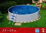 Azuro 240 Mountfield (бассейн сезонного применения) +песчаный фильтр (2,0м3/ч) - фото