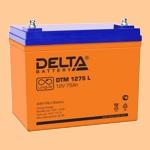 Аккумуляторная батарея (АКБ) к ибп Delta DTM 1275 L (12В/75 А·ч) 1275 L (12-75) для насосов и котлов - фото