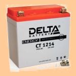Аккумулятор стартерный Delta CT 1214 (15 А·ч) 1214 (YTX14-BS, YTX14H-BS, YTX16-BS, YB16B-A) - фото