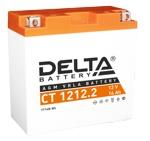 Аккумулятор стартерный Delta CT 1212.2 (12 А·ч) (YT14B-BS) - фото