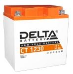 Аккумулятор стартерный Delta CT 1230 (YIX30L, YB30L-B,YIX30L-BS) - фото