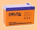 Аккумуляторная батарея для ибп 12V/7.2Ah Delta DTM 1207 (12В/7.2 А·ч) 1207 (АКБ) (1272) - фото