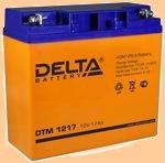 Аккумуляторная батарея 12V/17Ah Delta DTM 1217 (12В/17 А·ч) 1217 (АКБ) - фото
