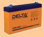 Аккумуляторная батарея 6V/7Аh Delta DTM 607 (6В/7 А·ч) (АКБ) DTM - фото