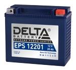 Аккумулятор для мотоцикла стартерный 12V/20Ah Delta EPS 12201 (20 А·ч) 12201 YTX20HL-BS, YTX20L-BS - фото