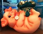 Свинка-копилка с мешком сувенир-копилка - фото