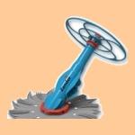 Zander Вакуумный полуавтоматический пылесос для бассейна - фото
