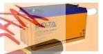 Аккумуляторная батарея (АКБ) к ибп Delta DTM 1265 L (12В/65 А·ч) 1265 L(12-65) для насосов и котлов - фото
